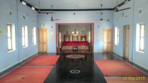 View inside the dhyana mandir
