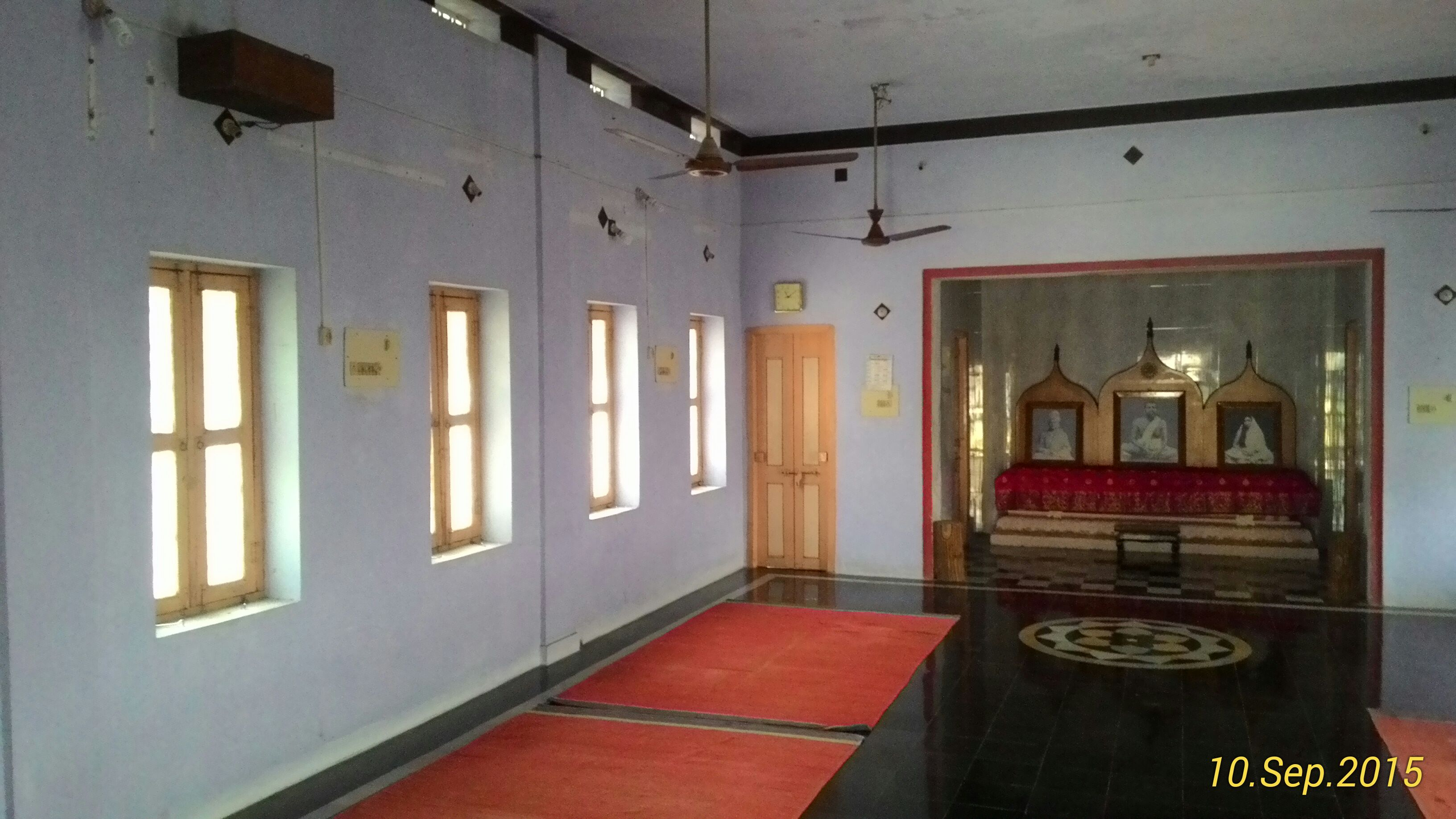 View inside the dhyana mandir