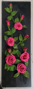 Roses from poly clay