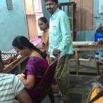 Volunteers packing medicines