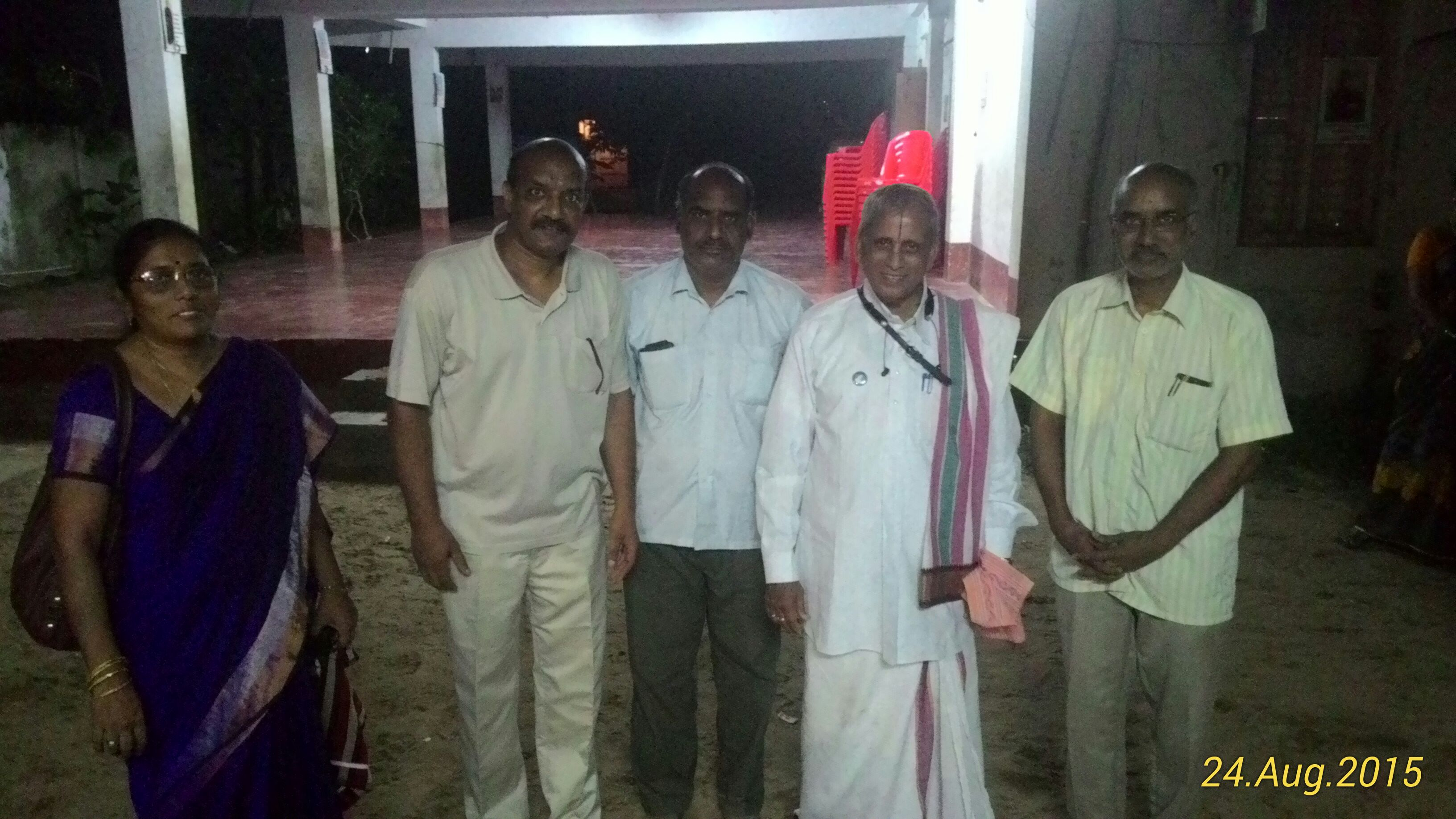 Dr Ekkirala Ananthakrishna garu with the members of the samithi at the end of the camp