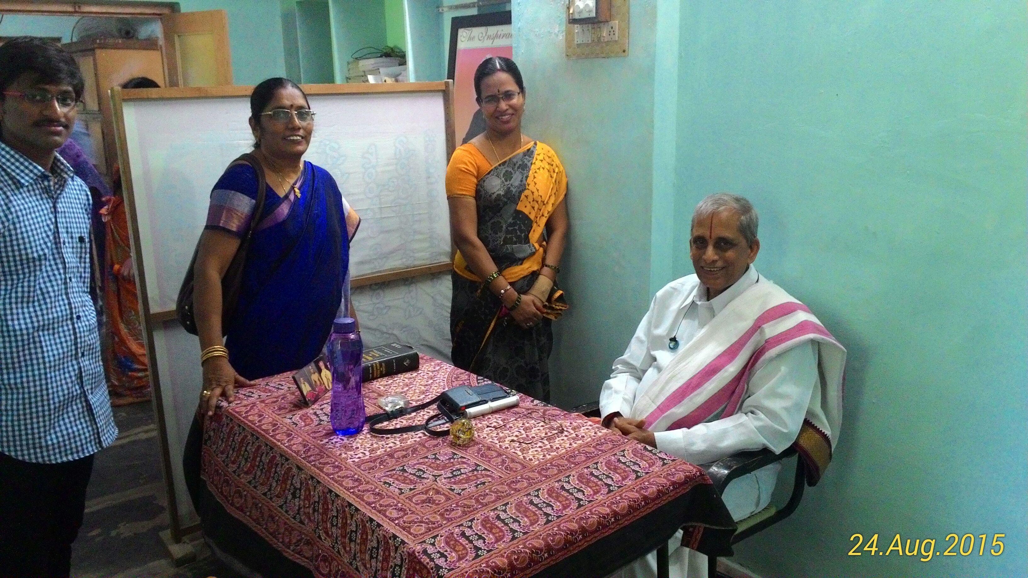 Dr Ekkirala Ananthakrishna garu with our doctor Dr N Aruna Kumari garu