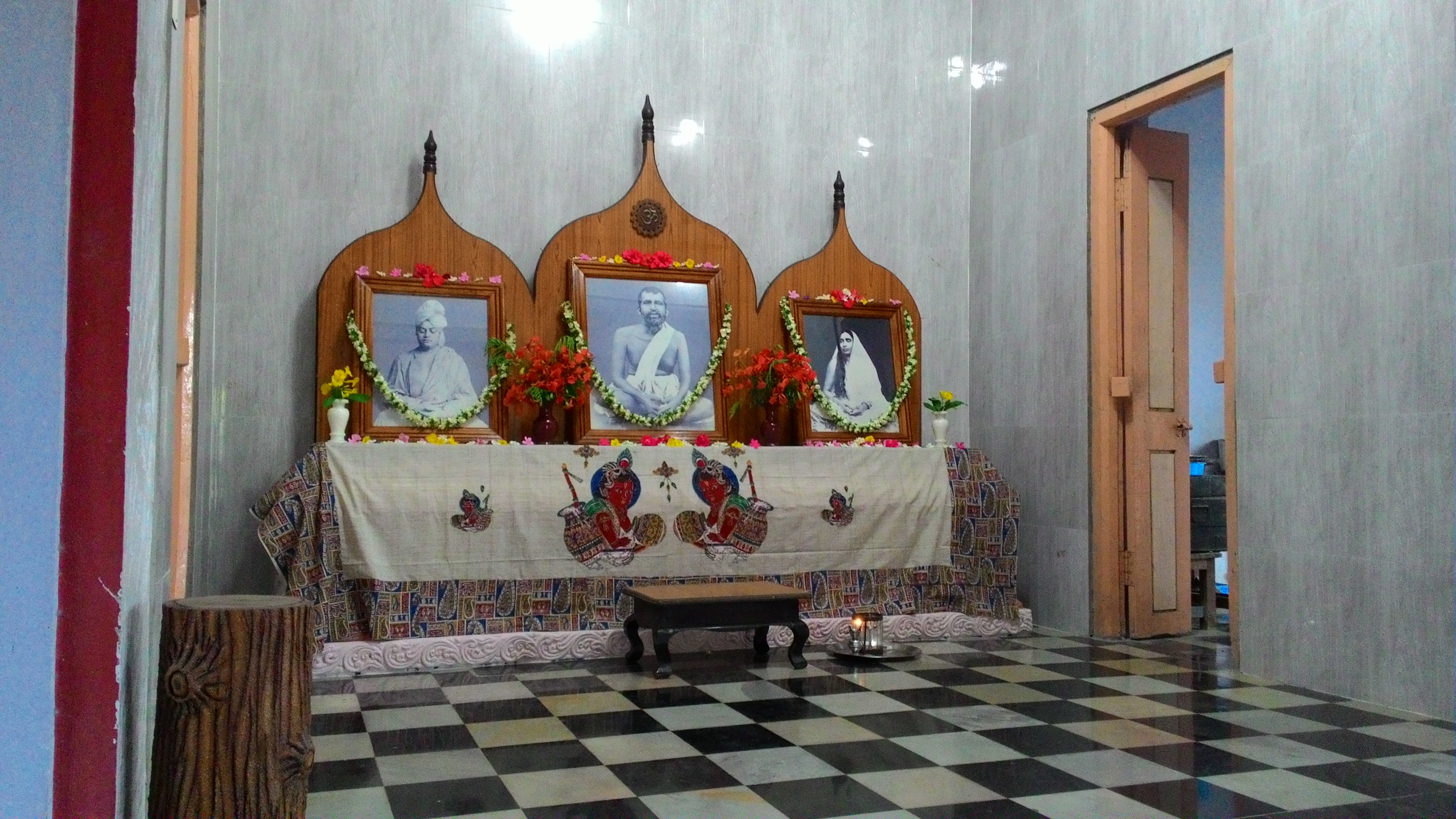 The shrine in the Dhyana Mandiram