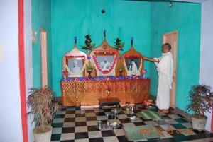 Morning Puja in progress