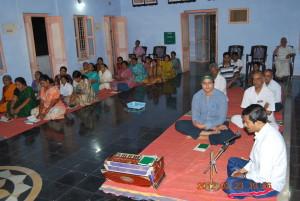 Gathering of Devotees. Speech by Dr. N. Ramagopal.
