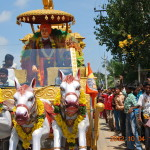 Ratham in processions in the streets of Bapatla