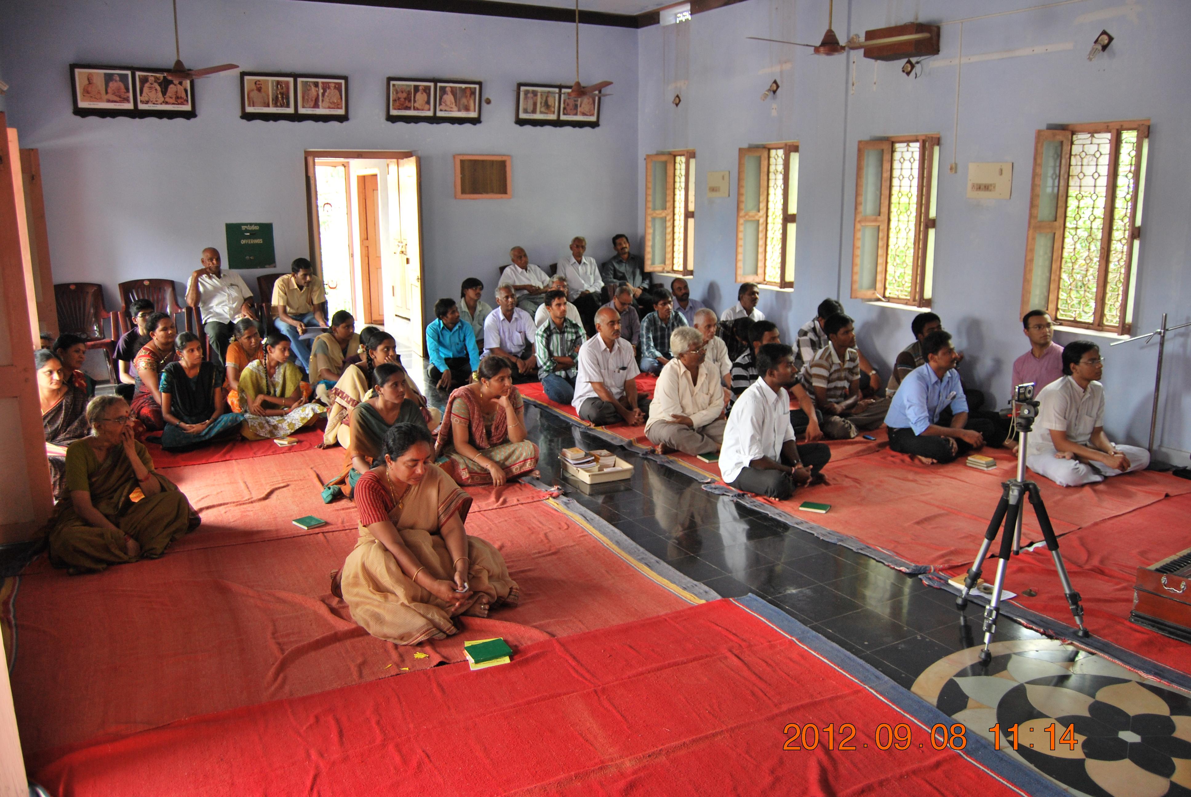 Gathering of devotees 8 Sep 2012