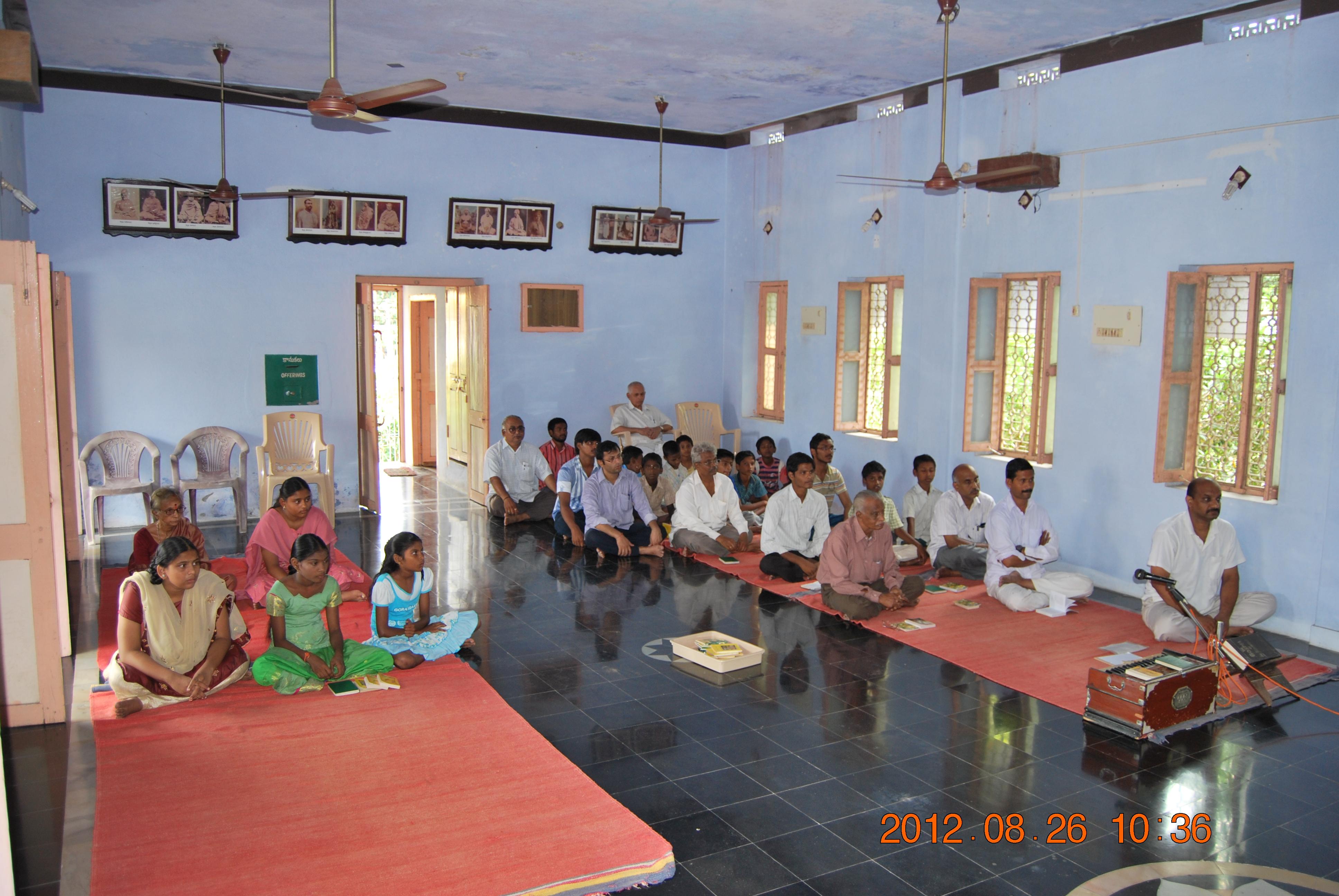 Gathering of devotees 26 Aug, 2012