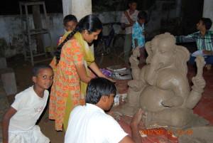 Idol preparation in progress