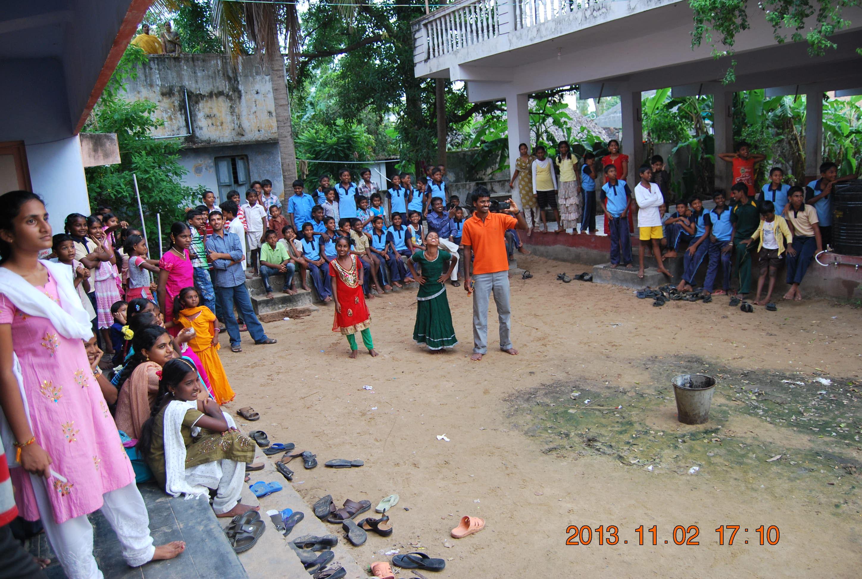'Narakasura dahanam' Children gathered