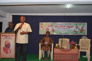 Dr KVS Acharya addressing the gathering
