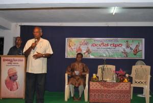 Dr KVS Acharya addressing the gathering