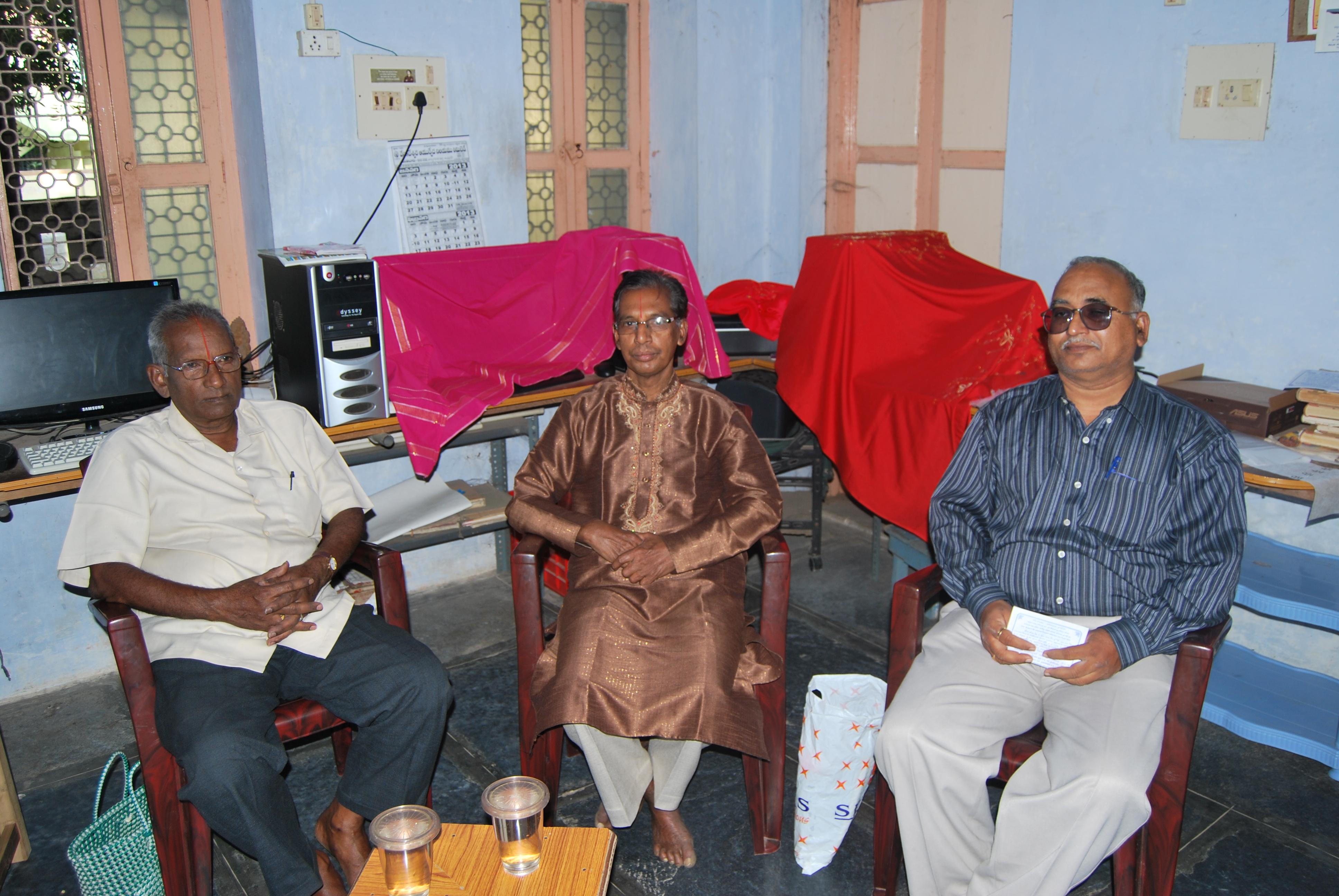 Dr KVS Acharya, Sri N Ch Bucchaiyacharyulu, Sri KVRG Sarma