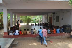 Chidren gathered on Swamiji's Jayanthi