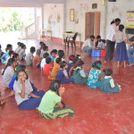 Gathering of children