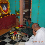 Morning puja