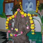 Idol of Vinayaka made by the young sculptors