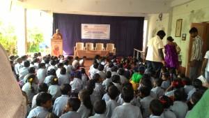 Children of the school gathered