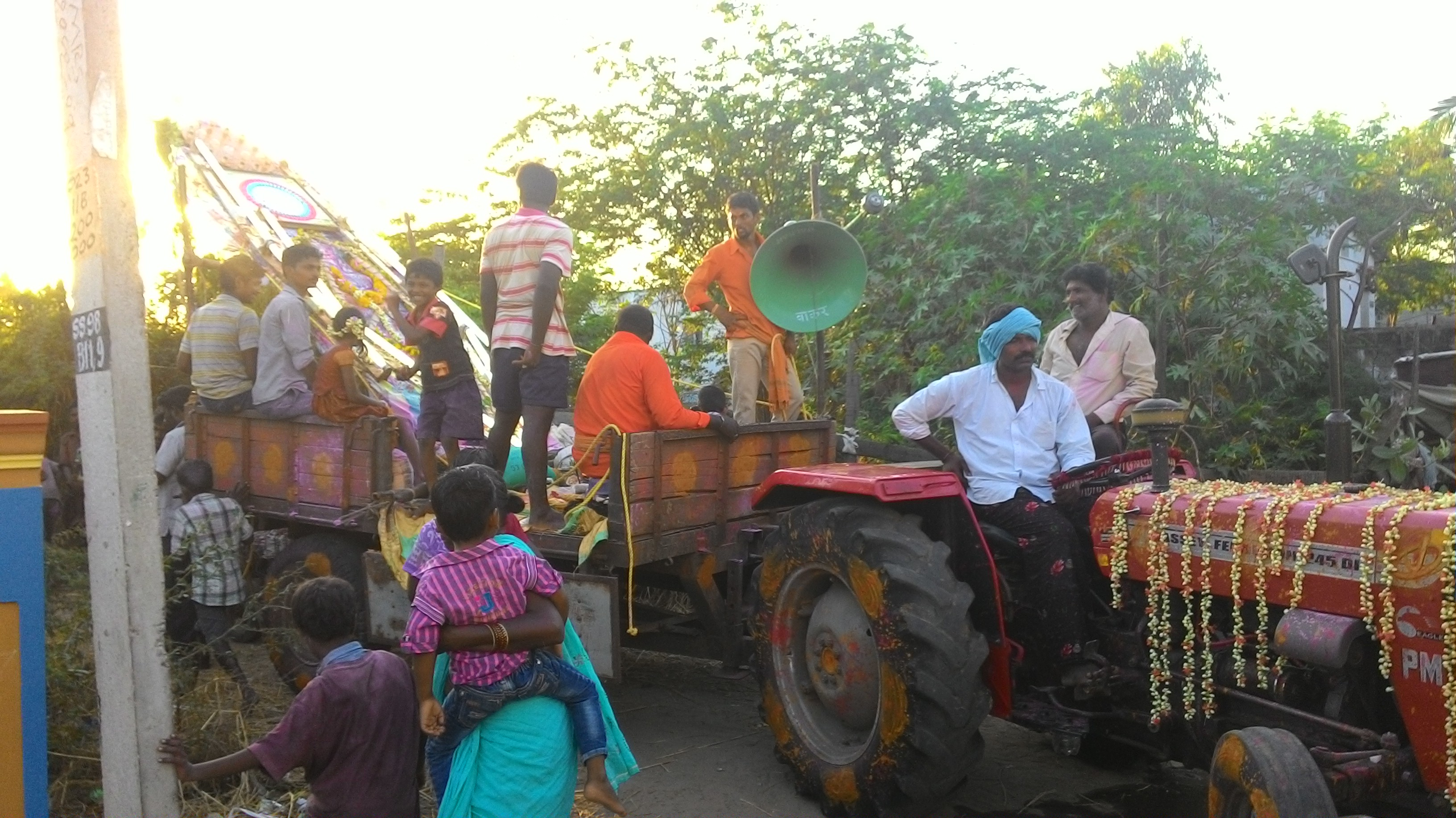 The Prabha being taken on a tractor