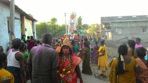 Procession with the Prabha behind