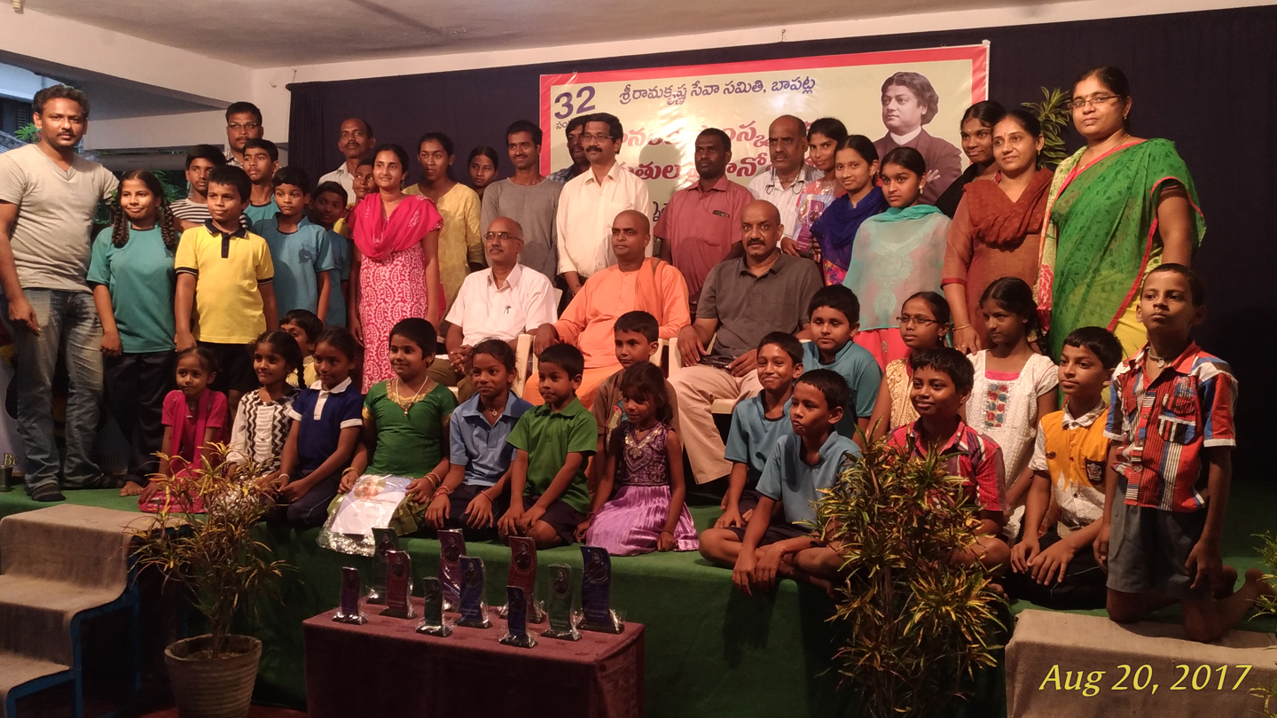 20170820 Revered Swami Sannivasanandaji Maharaj on the occasion of School level VCAP