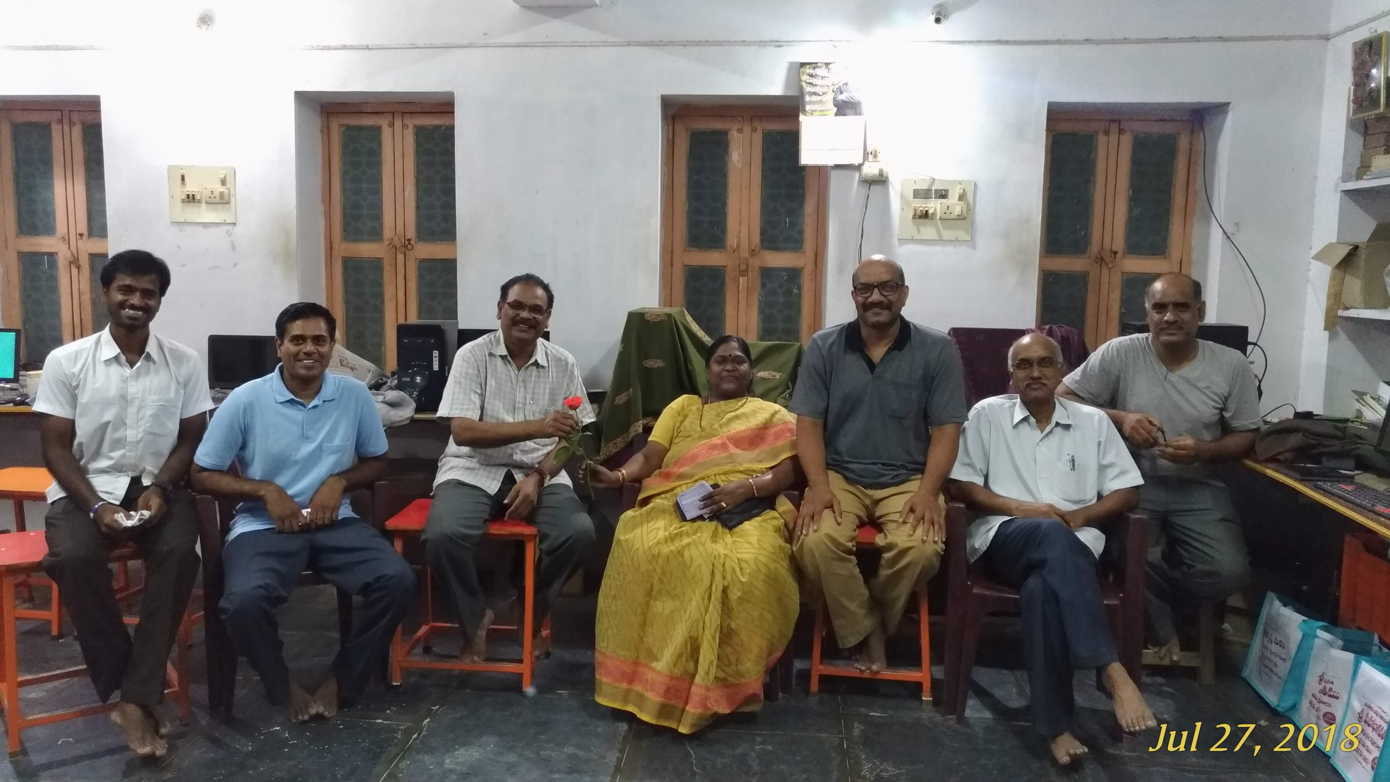Visit of Mr T. Sivananda Varma