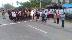 Sri Ragala Madhu garu flagging off