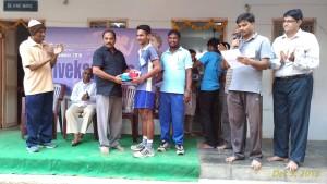 prize distribution. Sri Ragala Madhu garu giving away prizes along with Sri
