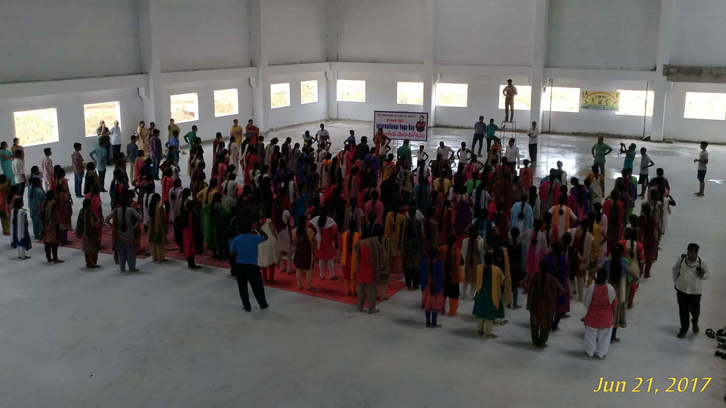 Yoga day at Agricultural College (Indoor Stadium), Bapatla