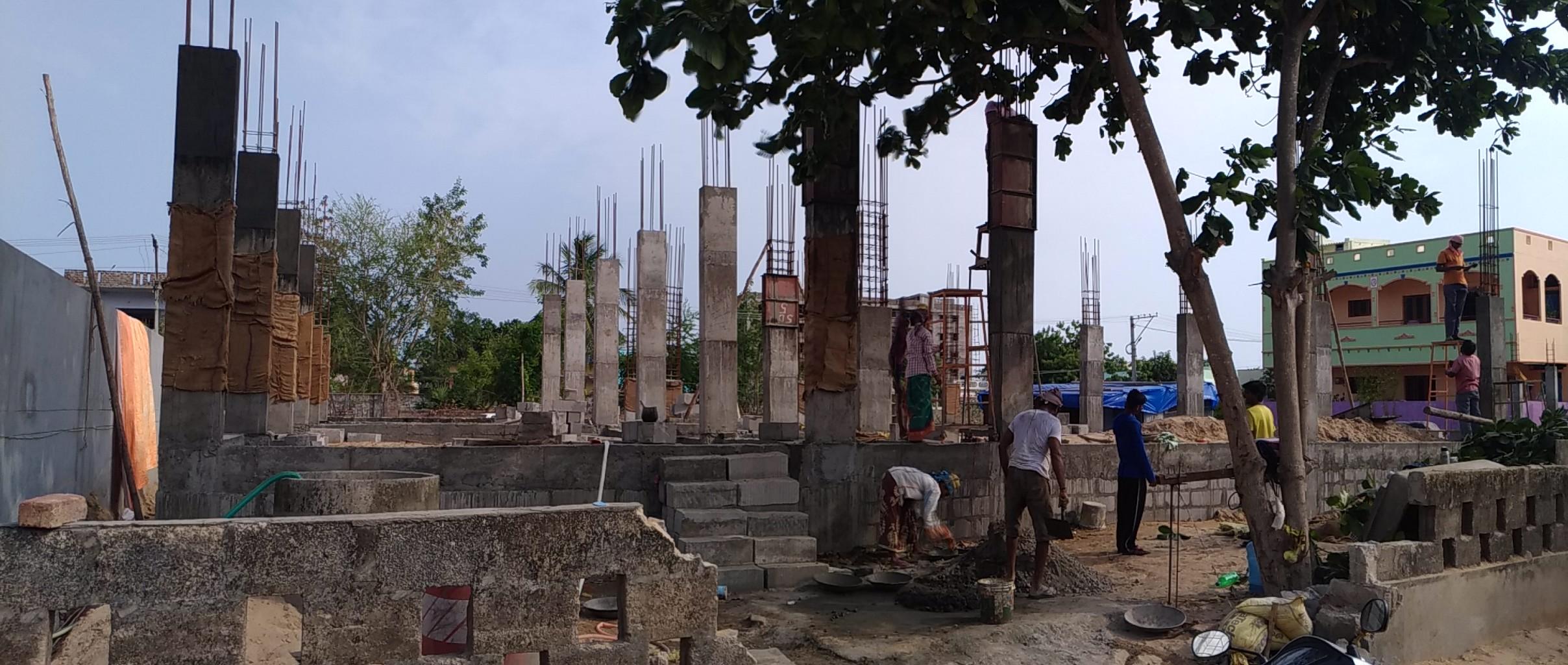 Raising pillars