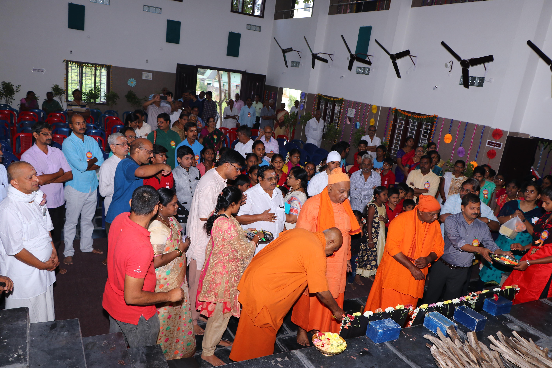 Inaugurating BSR Anjaneyulu Auditorium