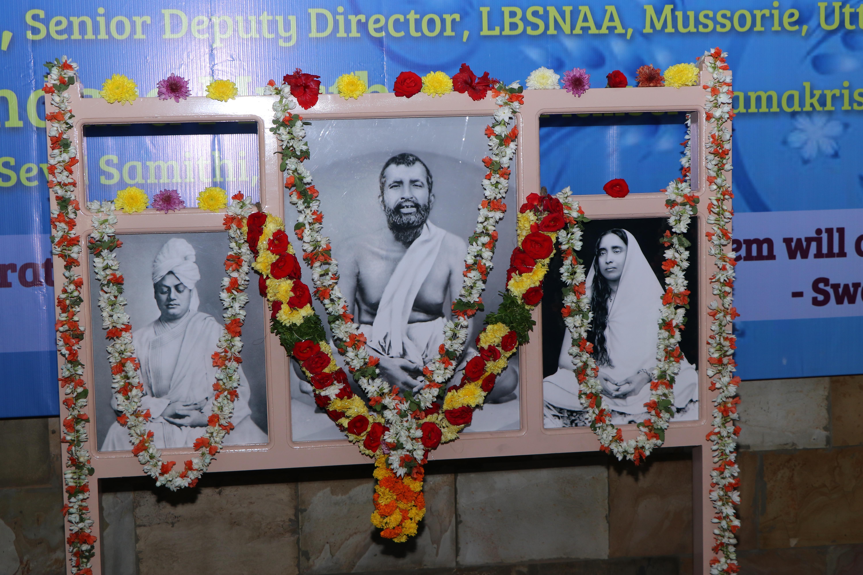 Sri Ramakrishna, Sri Sarada Devi and Swami Vivekananda.