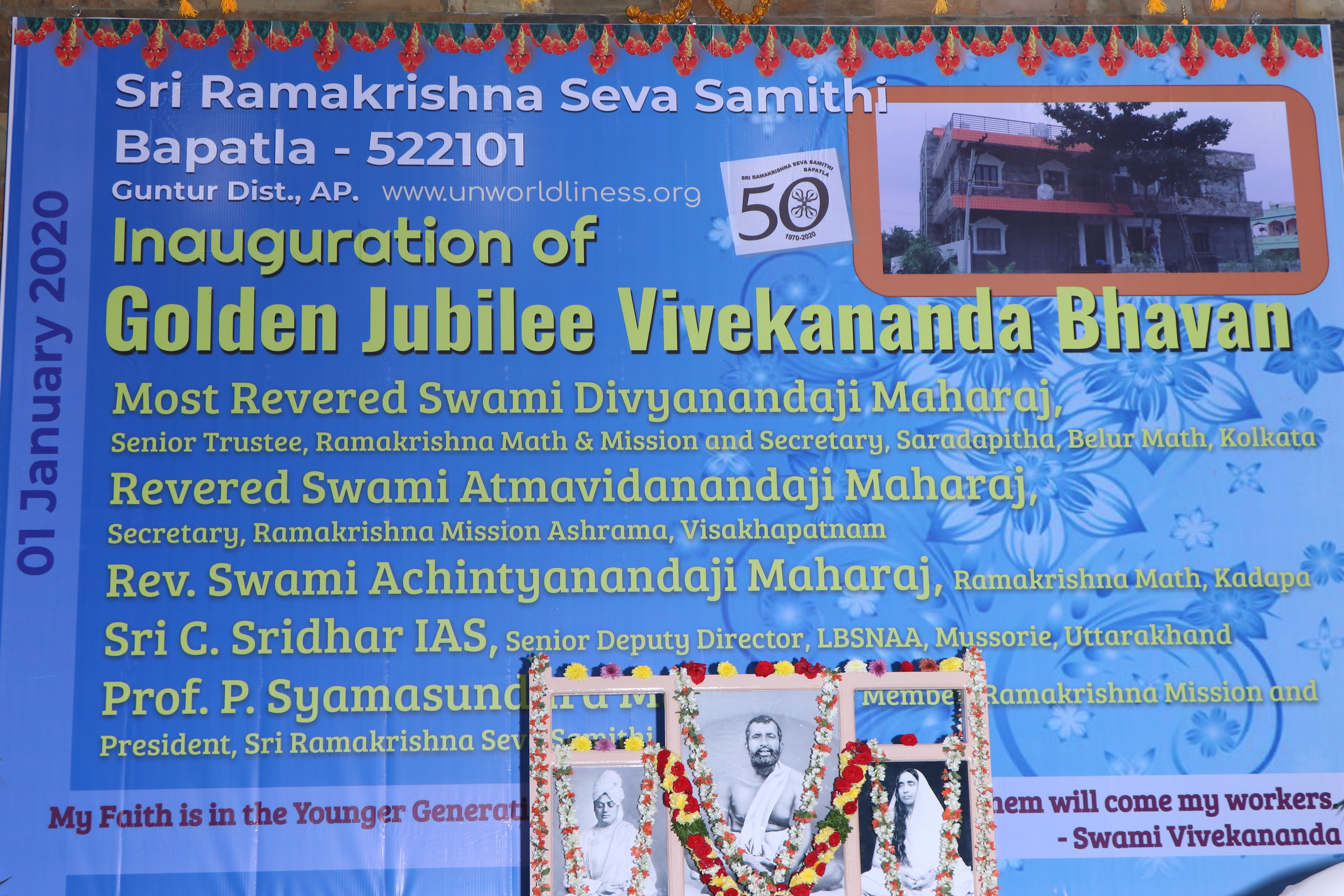 Banner of the inauguration function.