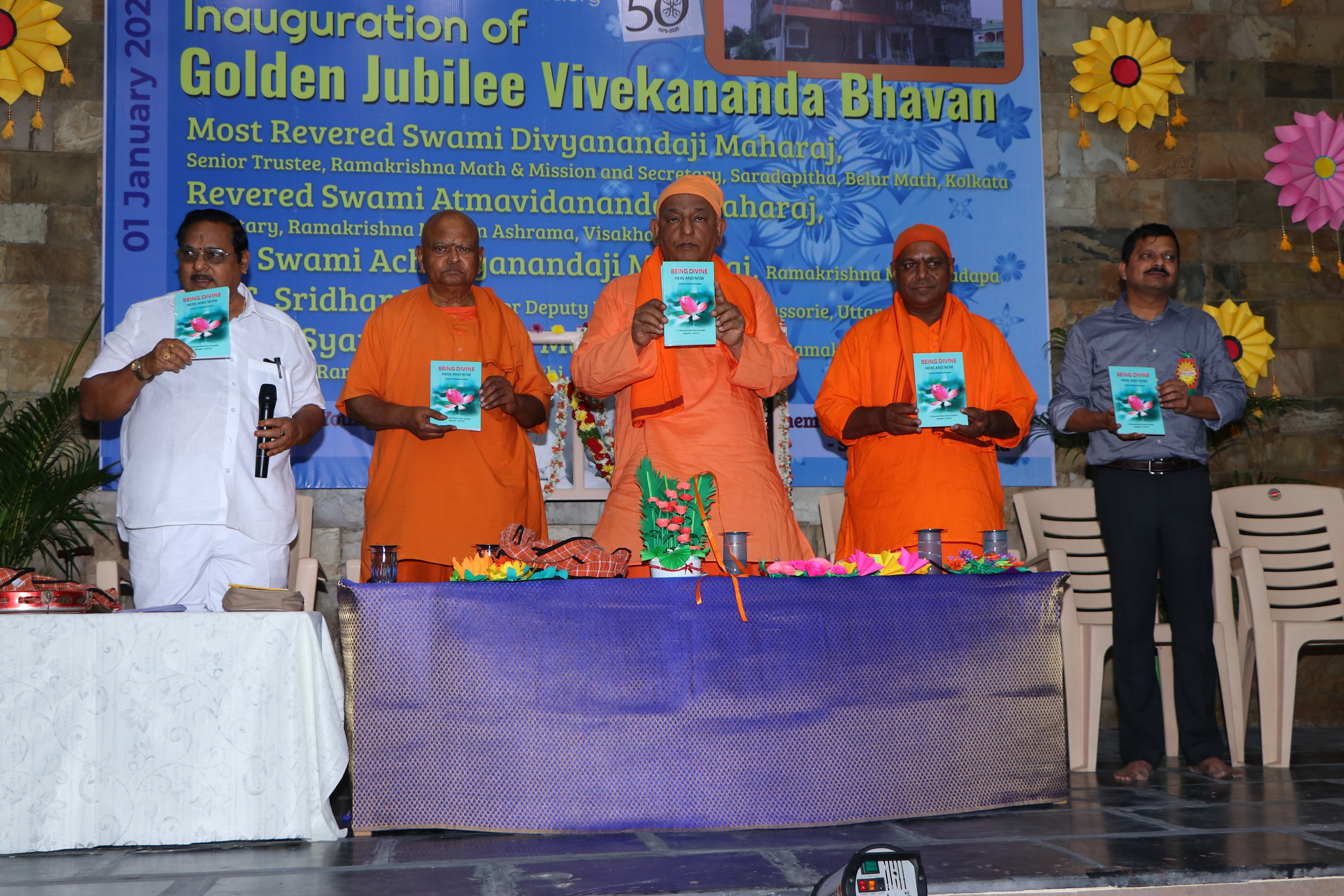 "Inauguration of the new publication ""Being Divine - Here and Now"" written by Rev. Swami Dayatmanandaji Maharaj."