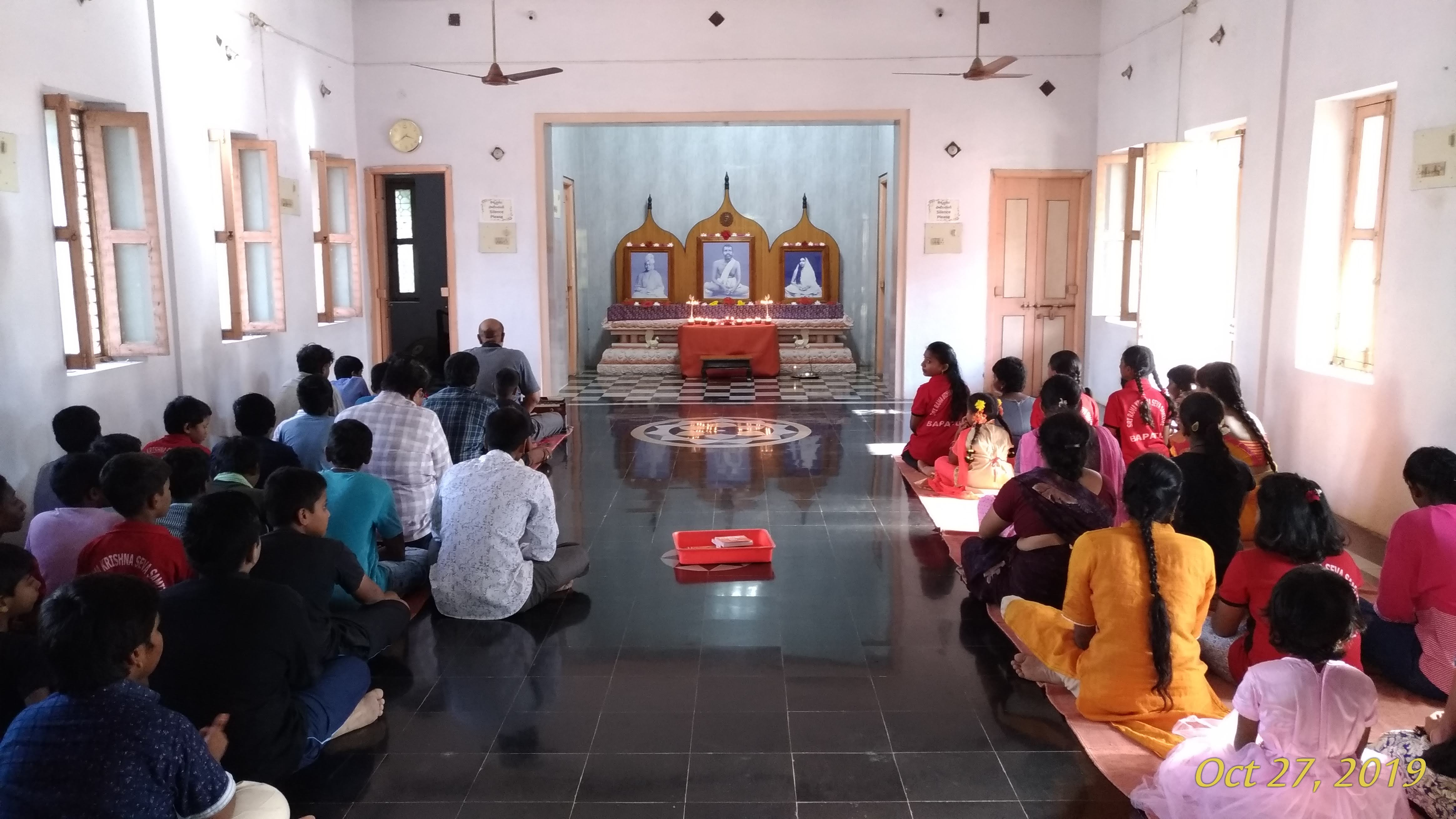 Prayer meeting, Lakshmi Puja
