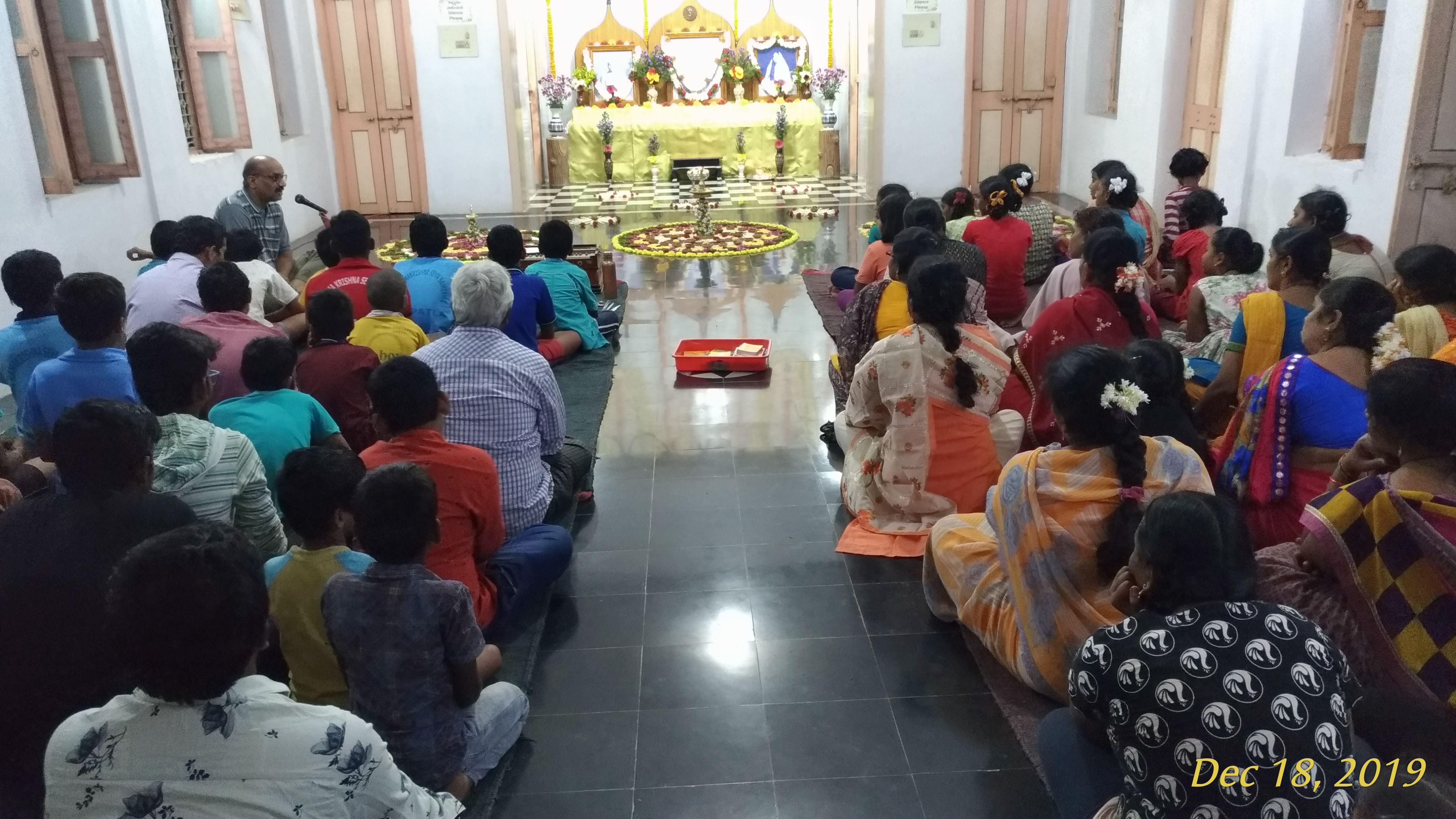 gathering of devotees